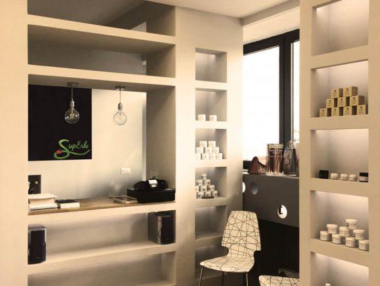 Showroom e laboratorio di cosmetici bio