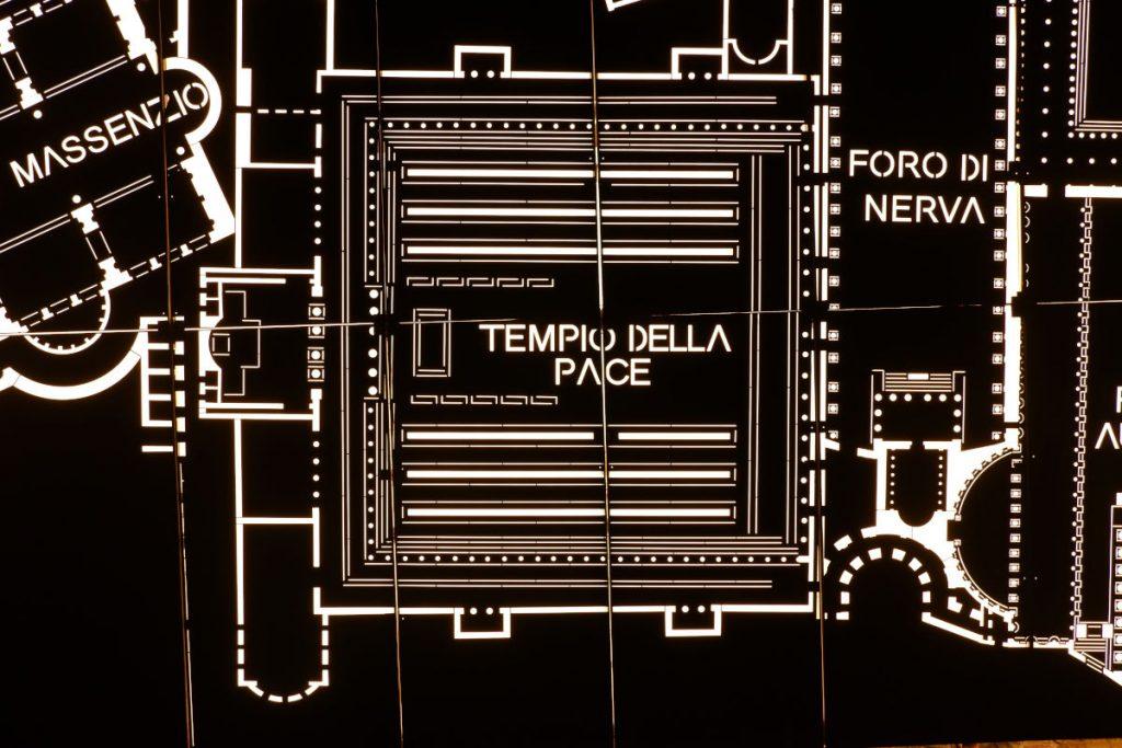Nuovo muro di fondo del Tempio della Pace